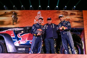 Podium: X-Raid Mini JCW Team: Cyril Despres, Jean-Paul Cottret