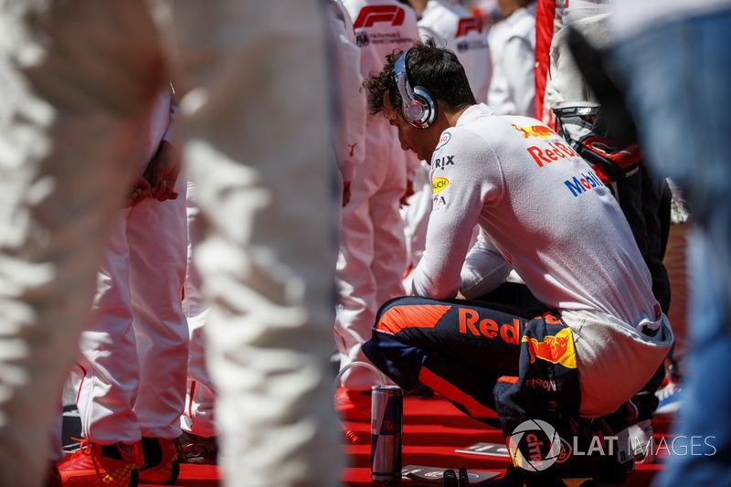 Daniel Ricciardo, Red Bull Racing, in griglia