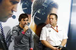 Fernando Alonso, McLaren, Zak Brown, Executive Director, McLaren Technology Group, host a press conf