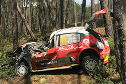 Kris Meeke, Paul Nagle, Citroën C3 WRC, Citroën World Rally Team, crash