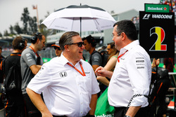 Zak Brown, Executive Director, McLaren Technology Group, Eric Boullier, Racing Director, McLaren