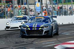 #1 Blackdog Speed Shop Chevrolet Camaro GT4.R: Lawson Aschenbach, #21 Muehlner Motorsports America Porsche Cayman GT4 Clubsport MR: Gabriele Piana