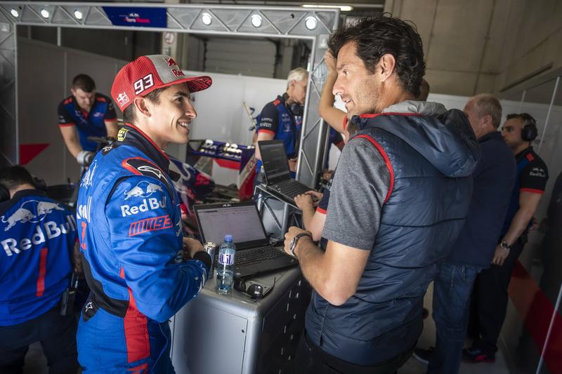 Marc Marquez y Mark Webber