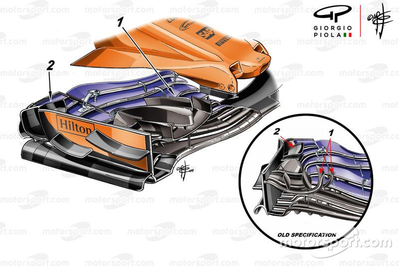 McLaren MCL33 front wing Monaco GP