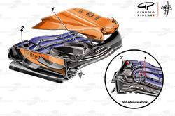 Aileron avant de la McLaren MCL33, GP de Monaco