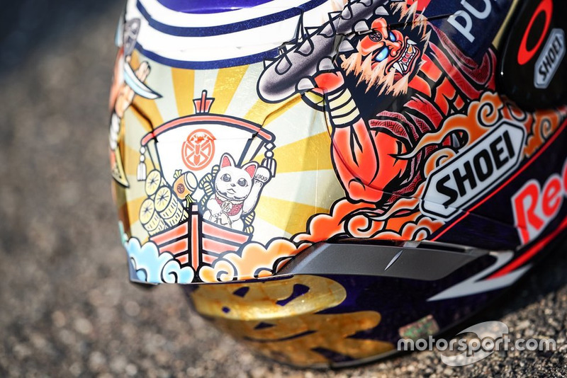 Helmet of Marc Marquez, Repsol Honda Team