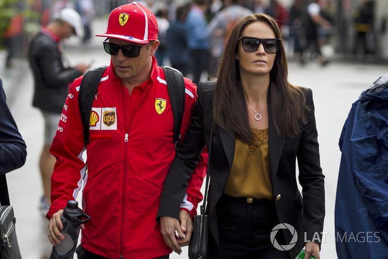 Kimi Raikkonen, Ferrari bersama istrinya, Minttu Virtanen,