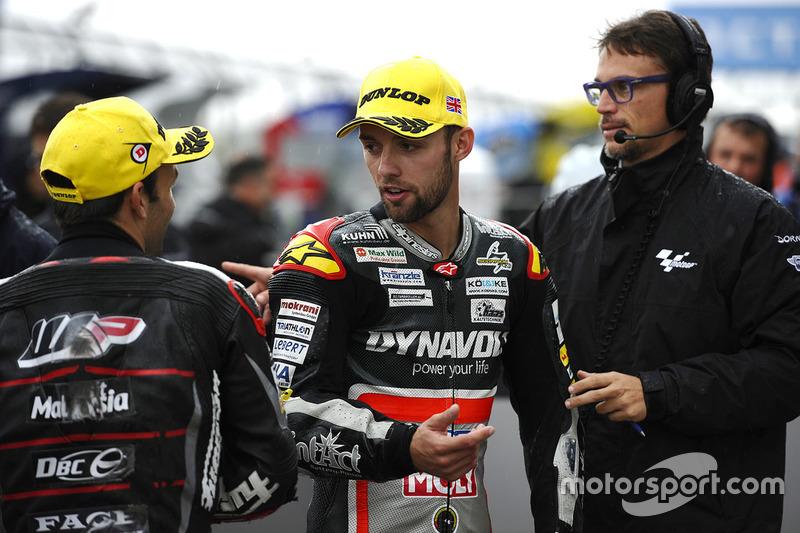 Third position Jonas Folger, Dynavolt IntactGP, second position Johann Zarco, Ajo Motorsport
