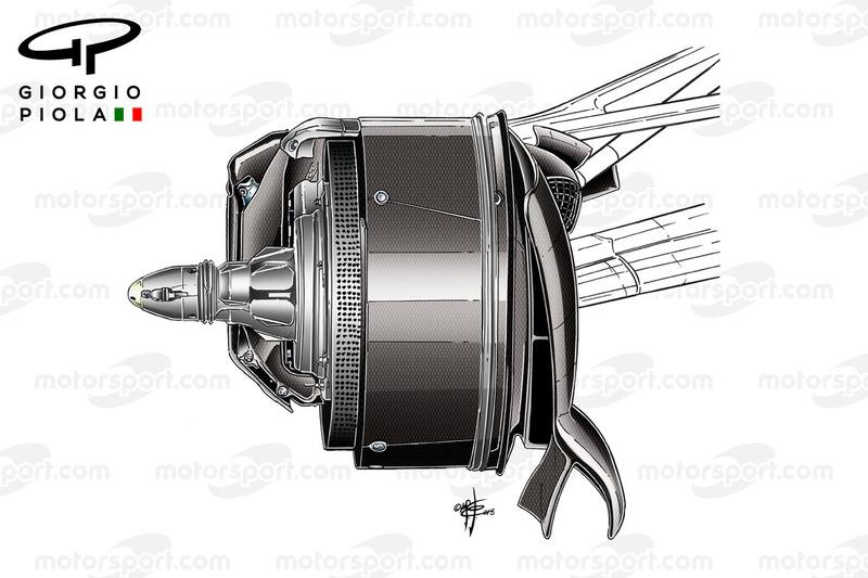 Mercedes W07, гальмівна система повітроводів, Гран Прі Канади