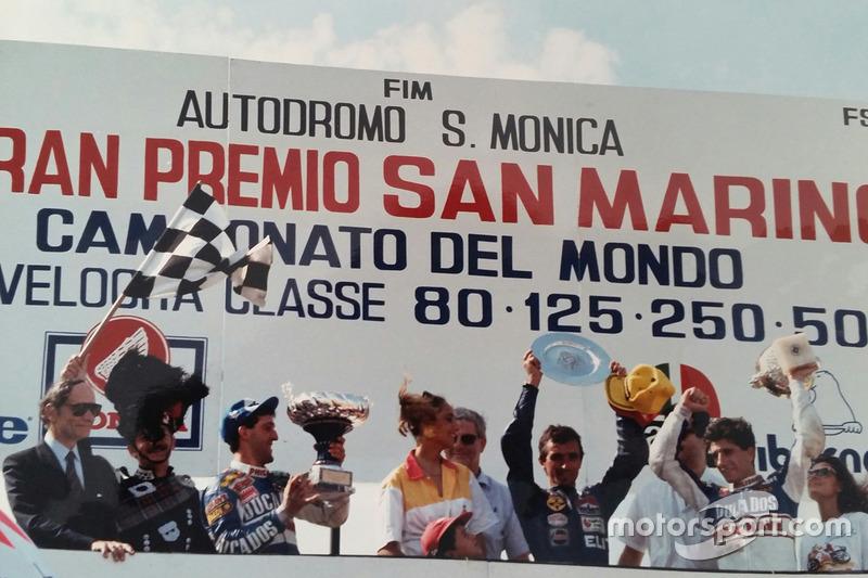 Podium: Sieger Pierpaolo Bianchi, 2. Jorge Martínez, 3. Manuel Herreros