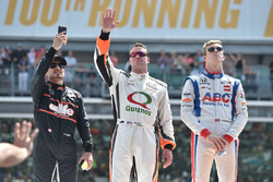 Alex Tagliani, A.J. Foyt Enterprises Honda, Buddy Lazier, Lazier Burns Racing Chevrolet, Jack Hawksworth, A.J. Foyt Enterprises Honda