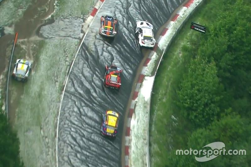 Screenshot: Abbruch beim 24-Stunden-Rennen nach Hagelsturm