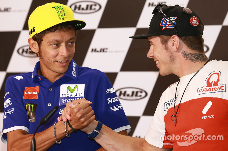 Valentino Rossi, Yamaha Factory Racing, Scott Redding, Octo Pramac Racing
