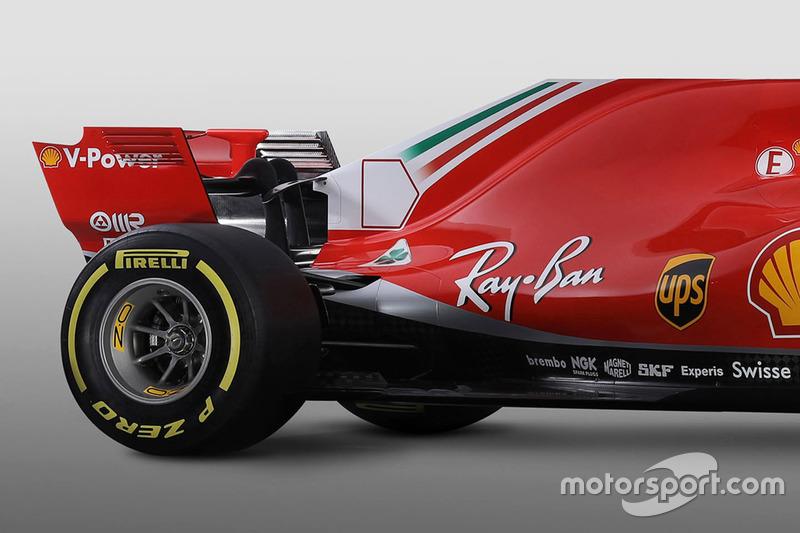 Ferrari SF71H, задня частина