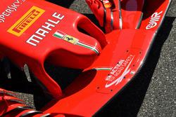 Ferrari SF71H detalle de la nariz y el ala frontal