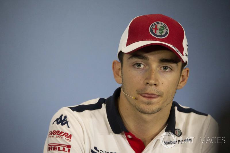 Charles Leclerc, Sauber, nella conferenza stampa