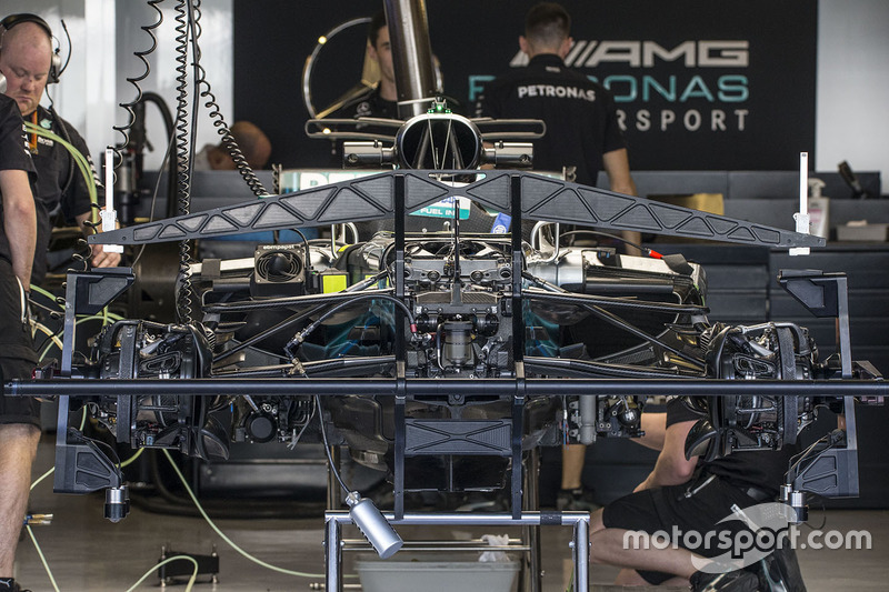 Mercedes-Benz F1 W08 in the garage