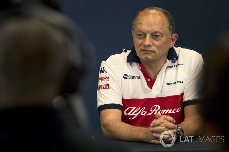 Frederic Vasseur, Sauber, Team Principal in the Press Conference