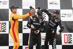 Podium: 1. Josef Newgarden, Team Penske Chevrolet; 2. Ryan Hunter-Reay, Andretti Autosport Honda; 3. James Hinchcliffe, Schmidt Peterson Motorsports Honda