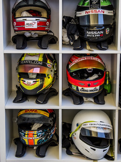 The drivers helmets