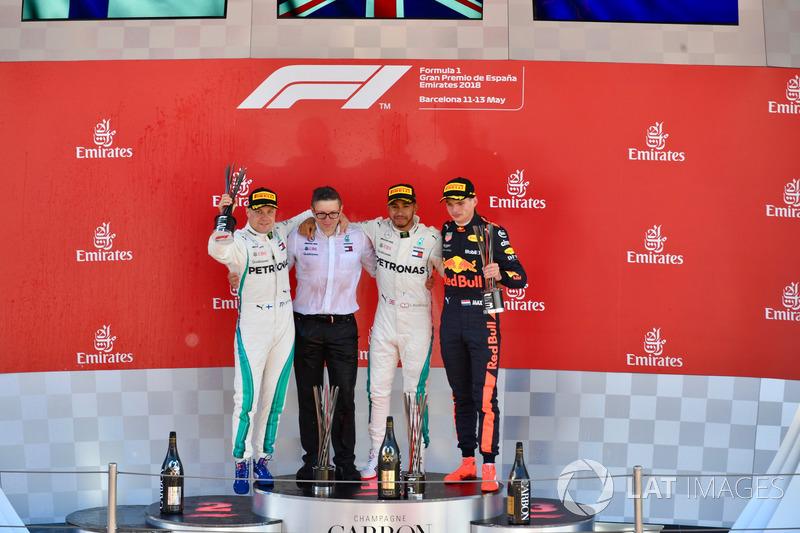 GP de España: 1º Hamilton, 2º Bottas, 3º Verstappen
