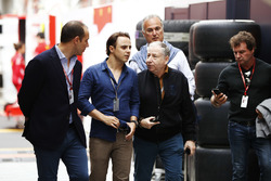 Felipe Massa, Williams Martini Racing, and Jean Todt, President, FIA, visit the paddock