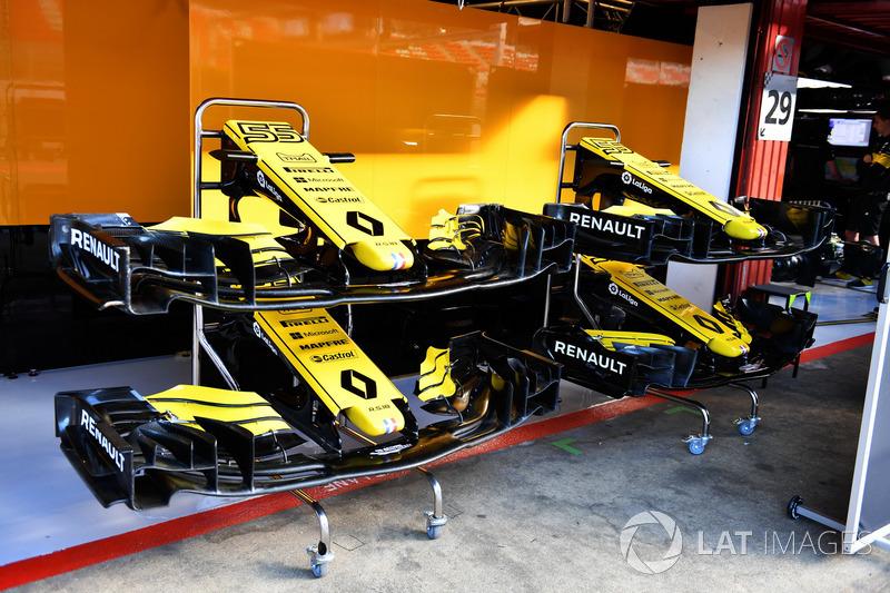 Носовой обтекатель и переднее антикрыло Renault Sport F1 Team RS18