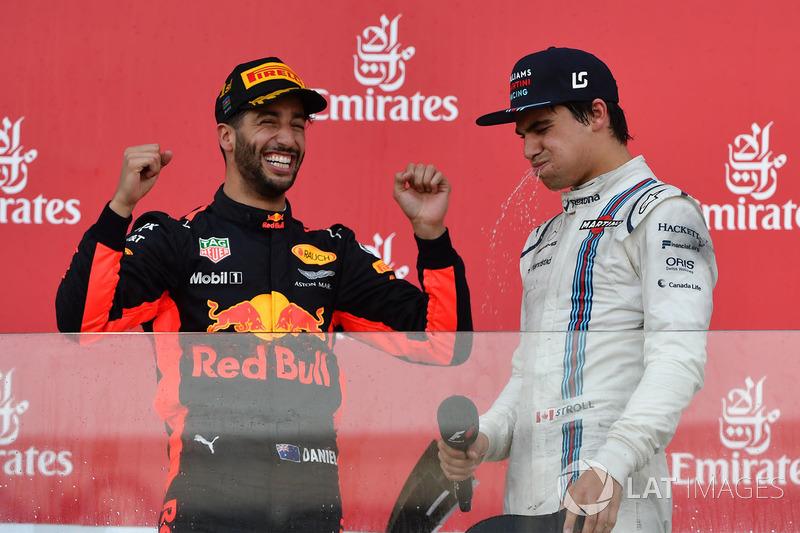 Daniel Ricciardo, Red Bull Racing, Lance Stroll, Williams