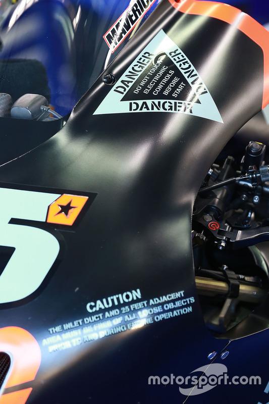Detail: Bike von Maverick Viñales, Yamaha Factory Racing