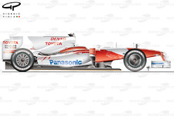 Toyota TF109 side view