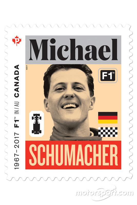 Sello de correos de Michael Schumacher