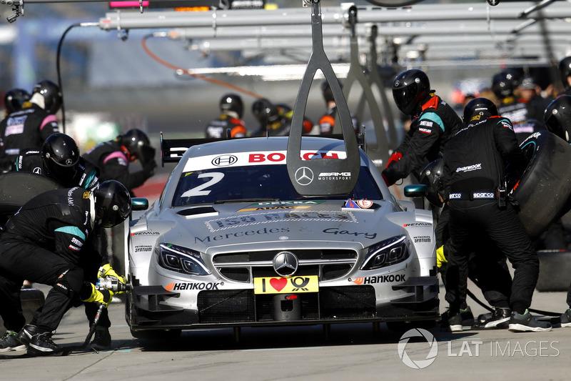Pit stop, Gary Paffett, Mercedes-AMG Team HWA, Mercedes-AMG C63 DTM