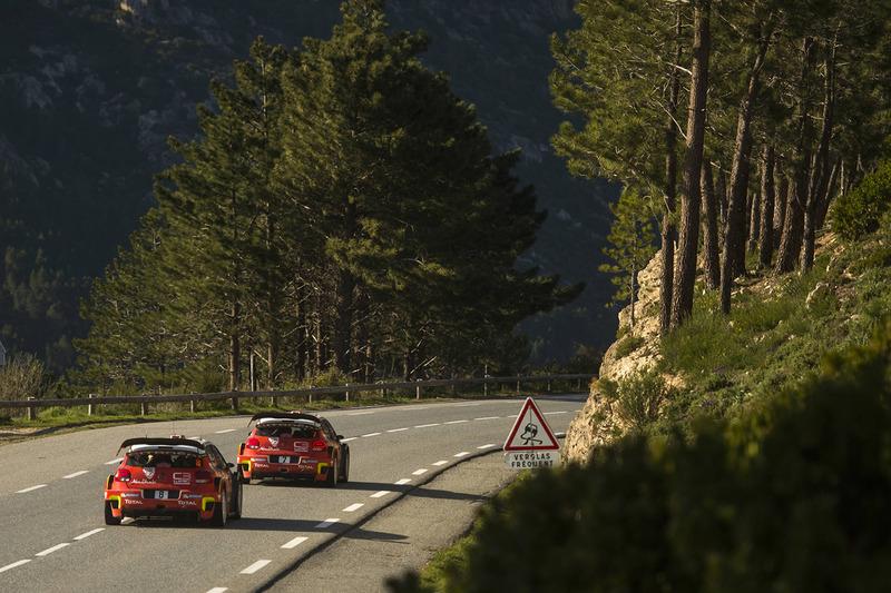 Kris Meeke, Paul Nagle, Citroën C3 WRC, Citroën World Rally Team; Craig Breen, Scott Martin, Citroën C3 WRC, Citroën World Rally Team