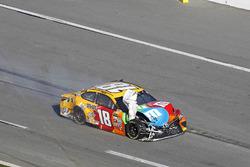 Kyle Busch, Joe Gibbs Racing Toyota after the crash