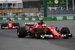 Sebastian Vettel, Ferrari SF70H and Kimi Raikkonen, Ferrari SF70H