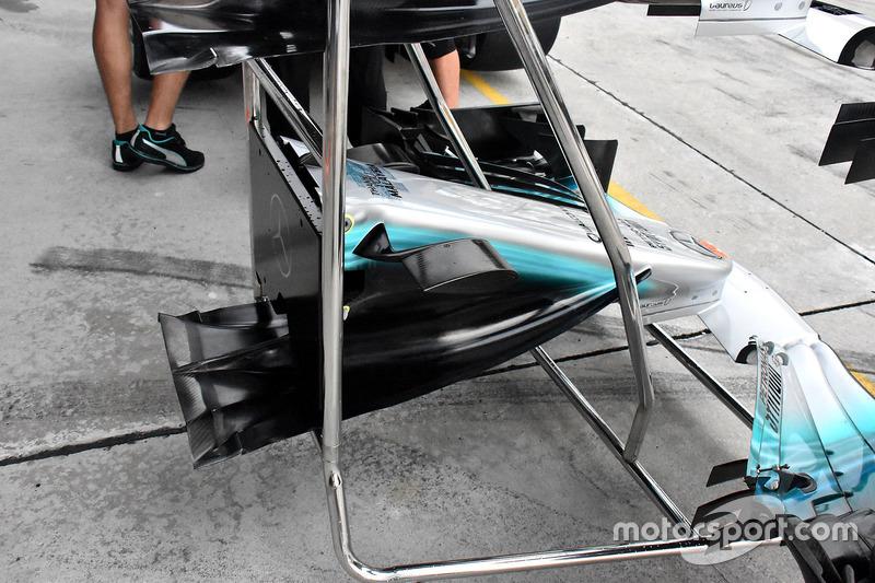 Mercedes AMG F1 W08, nose