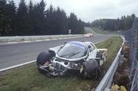 Crash: Derek Bell, Stefan Bellof, Porsche 956