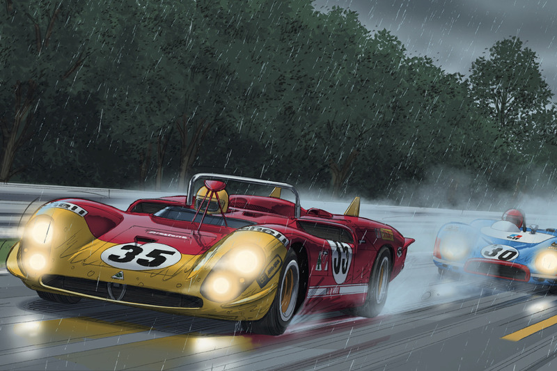 Comic: Steve McQueen in Le Mans