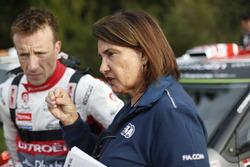 Kris Meeke, Citroën World Rally Team, et Michèle Mouton
