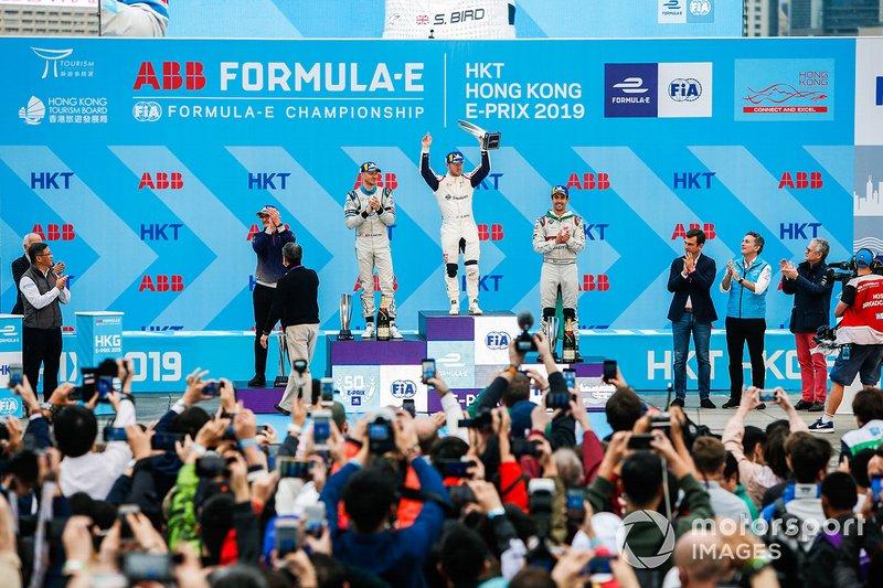 Ganador, Sam Bird, Envision Virgin Racing con Edoardo Mortara, Venturi Formula E, Lucas Di Grassi, Audi Sport ABT Schaeffler.