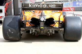 Le diffuseur de la McLaren MCL33