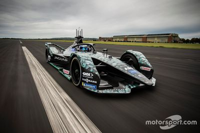 Sam Bird Jaguar testing