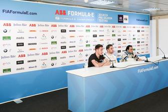 Stoffel Vandoorne, HWA Racelab,Robin Frijns, Envision Virgin Racing, Felipe Massa, Venturi Formula E, en la conferencia
