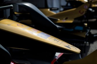 Techeetah bodywork in the pit lane