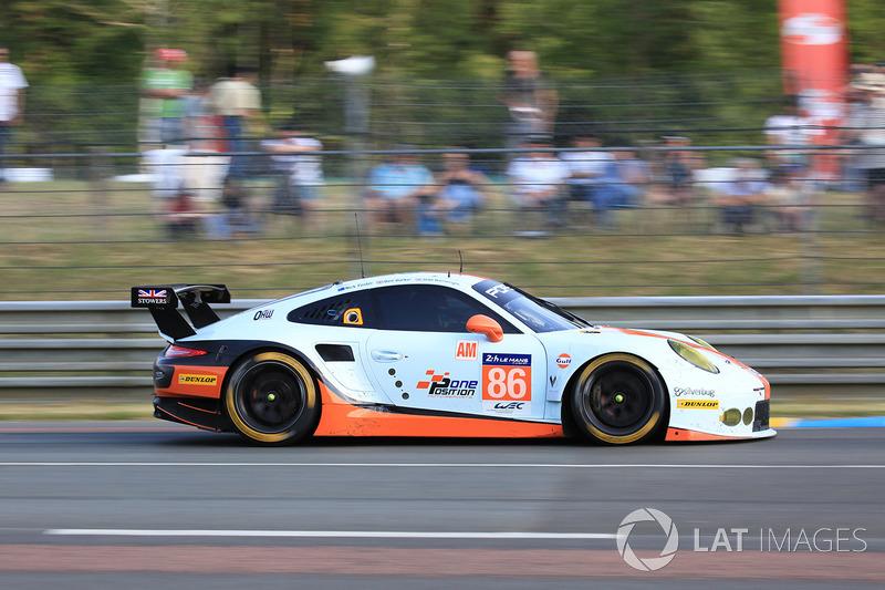 59. №86 Gulf Racing Porsche 911 RSR: Майкл Уэйнрайт, Бен Баркер, Ник Фостер