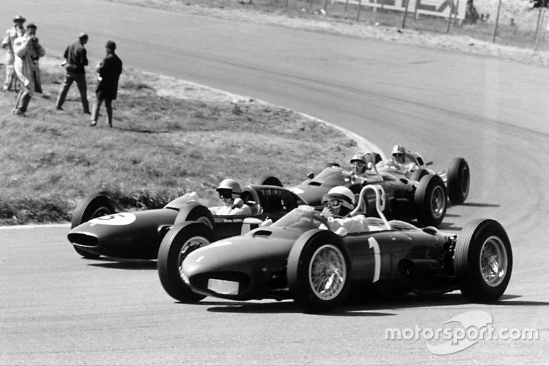Філ Хілл, Ferrari Dino 156, Тревор Тейлор, Lotus 24-Climax, Рікардо Родрігес, Ferrari Dino 156, Джек Бребем, Lotus 24-Climax