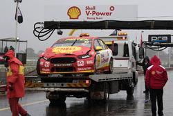 Unfallauto von Fabian Coulthard, Team Penske Ford