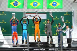 Pódio da Porsche Cup em Interlagos