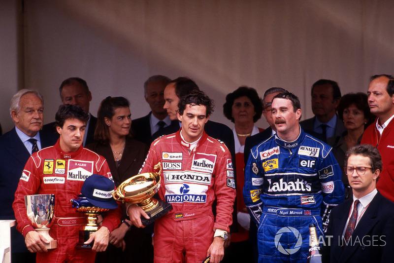 В той гонке вторым к финишу пришел Найджел Мэнселл, тройку замкнул Жан Алези