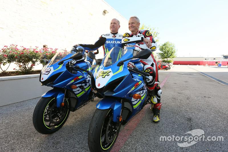 Dua pembalap GP 500cc: Kenny Roberts Jr., dan Kevin Schwantz